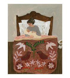 Illustration Noel, Tree Print, Gouache Painting, Art Inspo, Folk Art, Fairy Tales, Whimsical, Illustrator, Art Prints