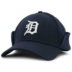 New Era Detroit Tigers Navy Blue 39THIRTY Down Flap Authentic On-Field  Stretch Fit Hat. Detroit Tigers CapTiger ... c85d10ac0b84