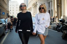 Some looks from the streets during fashion week in Milan.