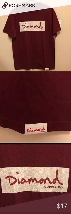 DIAMOND TEE paisley box logo Diamond Supply tee Diamond Supply Co. Shirts Tees - Short Sleeve