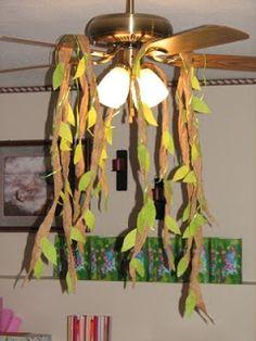 Party Crafting: Jungle Vine Decorations Dani prefers rain drops