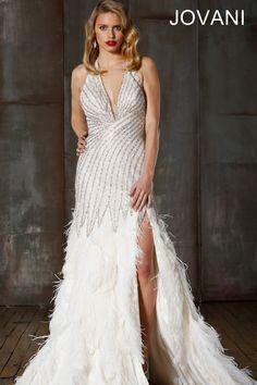 Jovani 72629 1920 S Art Deco Great Gatsby Wedding Dress Vegas Dresses
