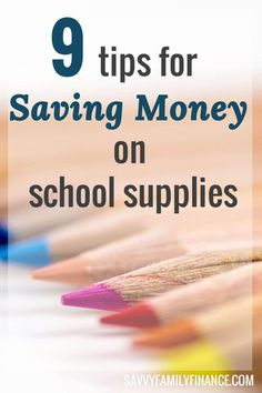 Find out how to shop smartly and get tips on how to save money on school supplies this year.  Click through to read more.