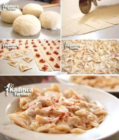 Üçgen Mantı Tarifi Turkish Recipes, Ethnic Recipes, Pistachio, Bon Appetit, Macaroni And Cheese, Diabetes, Food And Drink, Yummy Food, Bread