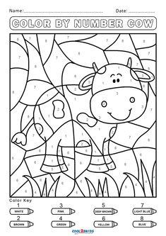 Farm Coloring Pages, Kindergarten Coloring Pages, Kindergarten Colors, Preschool Colors, Numbers Preschool, Free Preschool, Kindergarten Activities, Coloring Pages For Kids, Free Coloring