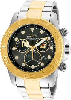 Invicta Men's 20347 Pro Diver Quartz Chronograph Black, Gunmetal Dial Watch