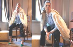 The French actress Gaia Weiss, main character of successful TV series as #Vikings and #Outlander, spotted with #PeutereyIcon jacket. Discover #PeutereyIcon exclusive edition for LuisaViaRoma on LVR.COM