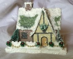 glitter houses from a kit with add ons