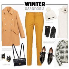 Pea Coat and Skinny Pants'