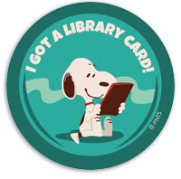 Snoopy Library Card Stickers - Bestsellers - Clothing, Gifts, and Incentives - Events and Celebrations - Products for Children - ALA Store