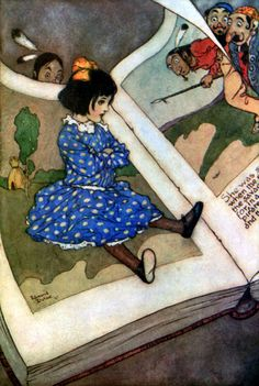 """Little Girl in a Book"" Dulac's Fairies I Have Met"