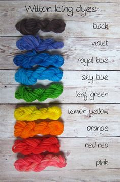 Wilton icing dyes and yarn freshstitches color chart