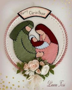 Diy Christmas Felt Ornaments Navidad Ideas For 2019 Felt Christmas Decorations, Felt Christmas Ornaments, Christmas Nativity, Christmas Art, Christmas Projects, Handmade Christmas, Christmas Holidays, Christmas 2017, Felt Crafts