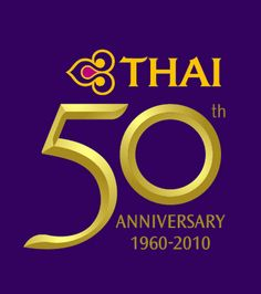 50th Anniversary of Thai Airways logo