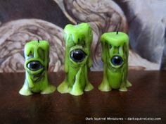 Zombie Eye Candles Set OOAK dollhouse miniature in one inch scale