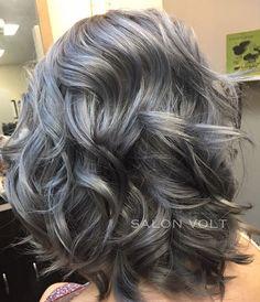 Oh.. Hi, Good morningWe'll just leave this here... #goodmorning #goodhairday #silverhair #greyhair #titanium #titaniumhair #charcoal #perfecthair #grannyhair #grey #hairtrends #haircolor #kenra #metallichair #silvermetallichair #hef #btc #btcpics #shorthair #shorthaircut #curls #beauty #beautylaunchpad #modernsalon #dyeddollies #behindthechair #hairbesties #scissorsalute