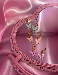 Dreamy butterfly earrings - Purple
