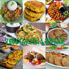 Vegetariska biffar- 11 olika recept - ZEINAS KITCHEN Vegan Gluten Free, Vegan Vegetarian, Vegetarian Recipes, Keto Recipes, Dinner Recipes, Mediterranean Dishes, Falafel, Food Pictures, The Best