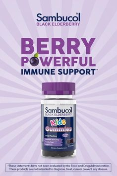 Elderberry gummies are a delicious way for the entire family to enjoy the power of Black Elderberry on the go or at home!  Each gummy provides the equivalent of 1.7g of Elderberry per gummy. They taste great and are a perfect supplement to add to your family's daily routine to provide immune support year-round. *These statements have not been evaluated by the Food and Drug Administration. These products are not intended to diagnose, treat, cure or prevent any disease. Baking Videos, Food Videos, Sambucol Black Elderberry, Elderberry Gummies, Vitamin C And Zinc, Drugs, Routine, The Cure, Berries
