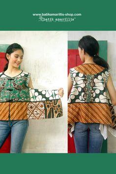 Batik Amarillis's signature patchwork vest www.batikamarillis-shop.com