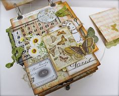 "I've always loved these type of collage projects. So cool. This is a ""Gypsy Chick Mini Album) from a blog. Love it!"
