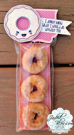 Cute Donut Gift for a Friend hmm with krispy kremes