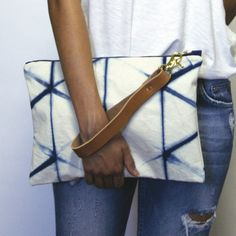 Spring 2016 Indigo Grand Clutch - Kikkō is available now on katrinreifeiss.com.