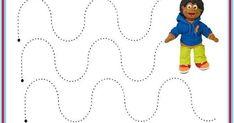 Los trazos fortalecen los dedos y la motricidad fina. Kids Rugs, Home Decor, Fine Motor, Fingers, Printable, Writing, Stencils, Decoration Home, Kid Friendly Rugs