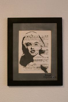 Marilyn Monroe on Sheet Music Painting by Sprayed Expressions, $18.00