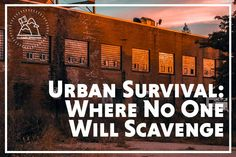 Check out the best places to scavenge in an urban survival situation. Be sure you know where to avoid the crowds but still score the goods you need! Urban Survival, Survival Food, Outdoor Survival, Survival Prepping, Survival Skills, Survival Supplies, Survival Hacks, Survival Quotes, Survival Equipment