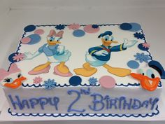 donald and daisy duck sheet cake
