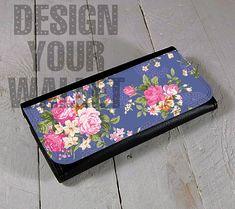 Womens Wallet Leather bifold floral wallpaper design. #floraldesign #floral #wedding