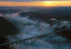 Morning fog on bridge day !!