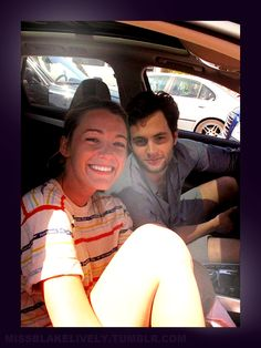 Blake Lively + Penn Badgley. Ugh. Even without makeup she's stunning.
