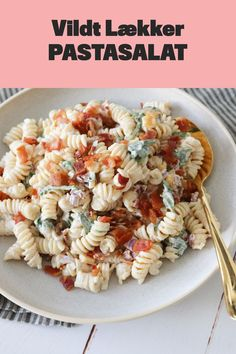 Real Food Recipes, Cooking Recipes, Bacon, Creme Fraiche, Pasta Salad, Grilling, Picnic, Snacks, Dinner