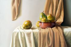 """Cuadros Modernos Pinturas : Limones, En """"Limonada de Felicidad"""", Bodegones de Marco Antonio Palomeque, Mx."""