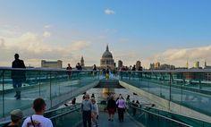 The Millenium footbridge in London, England