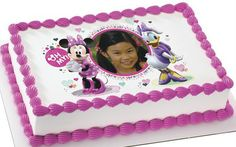 Disney Minnie Mouse Daisy Duck Edible Personalized Cake Topper Image | eBay
