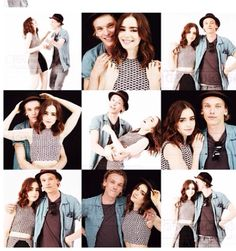 Jamie Campbell bower and lily Collins are so cute together <3