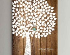 Guestbook Tree Guest Book Weeding Tree Wood Tree Guestbook