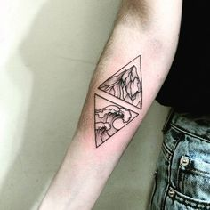 The mountains and the sea By @ira_shmarinova Follow for more rad tattoos #inked #armtattoo #art #tattooed #tattoos #ink #blackandgray #blacktattoo #tattooartist #artist #blacktattoo #details #linework #dotwork #drawing #seatattoo #mountains #greattattoos #tattoo #blackink #bodyart #triangle #geometrictattoo #geometric #amazingtattoos #girlstattoos #guytattoos #girlswithtattoos