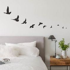 Bird Wall Decals Bird Decal Flying Bird Decals by WallDecalsUSA
