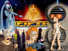 Mother of God I would see this in a heartbeat // The Fifth Element / Futurama mashup
