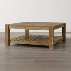 Shop Edgewood Square Coffee Table.    The table's teak is certified sustainable by the Forest Stewardship Council (FSC), a nonprofit organization that encourages responsible management of the world's forests.