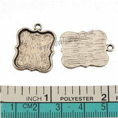 Zinc Alloy Square Charms,Cabochon Setting,Plated,Cadmium And Lead Free,Various Color For Choice,Approx 24*18*1.5mm,Hole:Approx 2mm,Sold By Bags,No 010098