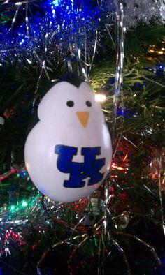 University of Kentucky Penguin Gourd Ornament