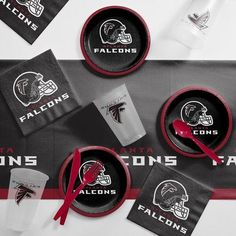 Creative Converting NFL Tailgating 56 Piece Dinner Plate Set NFL: Atlanta Falcons
