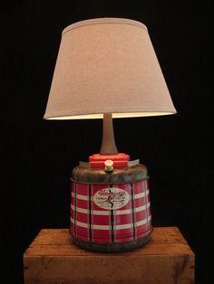 upcycled vintage flamingo beverage jug lamp by benclifdesigns 13500
