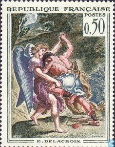 Postage Stamps - France [FRA] - Jacob wrestling with the Angel