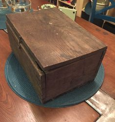 Vintage Wooden Box Vintage Wood Box with hinged by RetroUrbanWares
